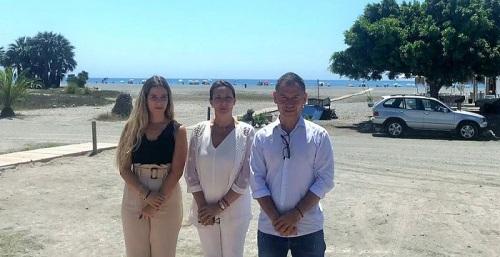 Concha Insúa con los concejales de Cs en Motril