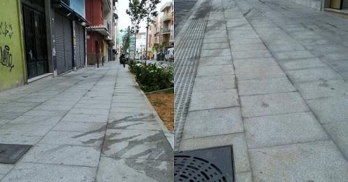 El PSOE motrileño denuncia el deterioro de la calle Ancha pocos días después de su inauguración.jpg