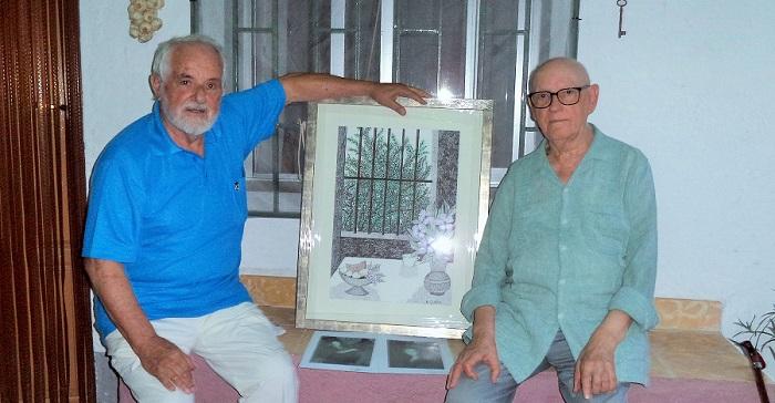 La asociación Poeta Juan Gutiérrez Padial de Lanjarón nombra socio de honor al pintor José Hernández Quero