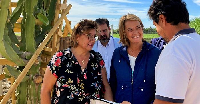 Visita Luisa García Chamorro vivero municipal de Motril