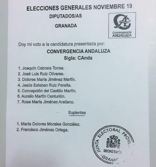 'Agua para el Campo' presenta su candidatura a las elecciones generales del próximo 10 de noviembre