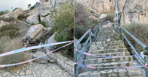 Desprendimiento rocas castillo Salobreña