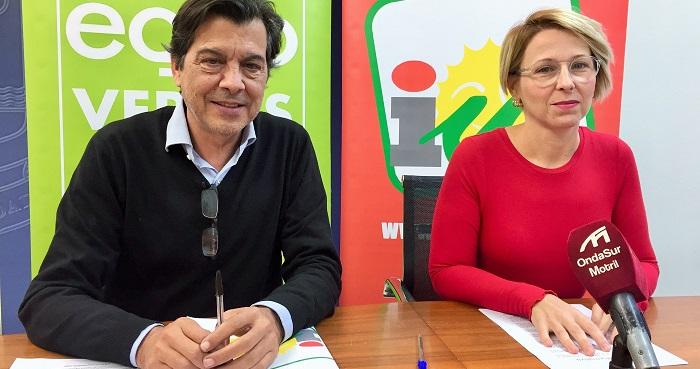 Inma Omiste y Jose Llorente IU Motril