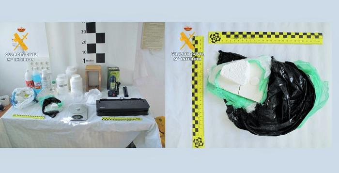 La Guardia Civil desmantela un laboratorio de cocaína en Ugíjar