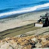 Limpieza playa San Cristóbal tras temporal