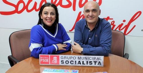 Los concejales del PSOE de Motril Gregorio Morales y Alicia Crespo.jpg