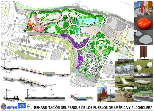 Plano de remodelación del Parque de los Pueblos de América de Motril.png