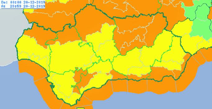 Previstos para mañana avisos naranjas y amarillos por viento y lluvia en todas las provincias andaluzas.png