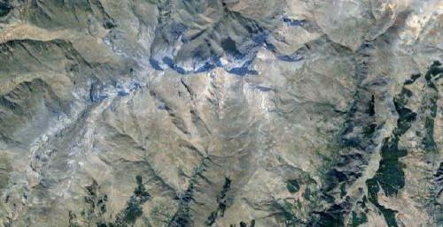 Alpujarra Capileira Relieve del área montañosa donde ha tenido lugar el accidente y el rescate