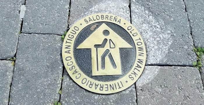 Nueva señalización turística horizontal en el casco histórico de Salobreña