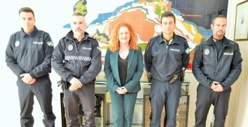 Tres nuevos agentes se incorporan al cuerpo de Policía Local de Salobreña