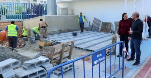 Almuñécar realiza mejoras de infraestructura y mantenimiento en el estadio municipal 'Francisco Bonet'