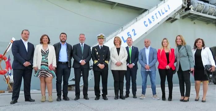 Autoridades visita buque Castilla Puerto de Motril