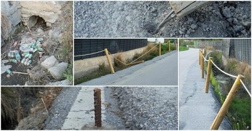 El PP denuncia el gasto en las balizas de seguridad y la suciedad de la acequia del camino de La Guardia a La Caleta