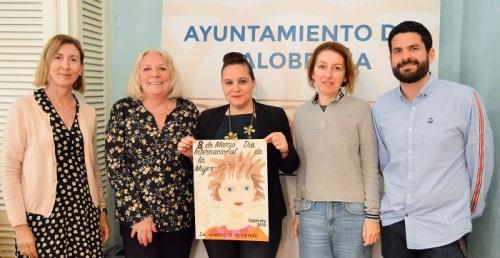 Laura Bustos, de 2º de ESO del IES Mediterráneo, gana el concurso de carteles para el 8 de marzo