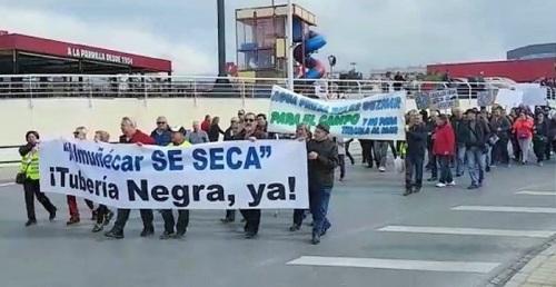 Manifestación de agricultores de Almuñécar en Granada