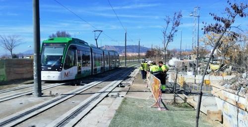 Metro de Granada restituye hoy el servicio en la totalidad de la línea