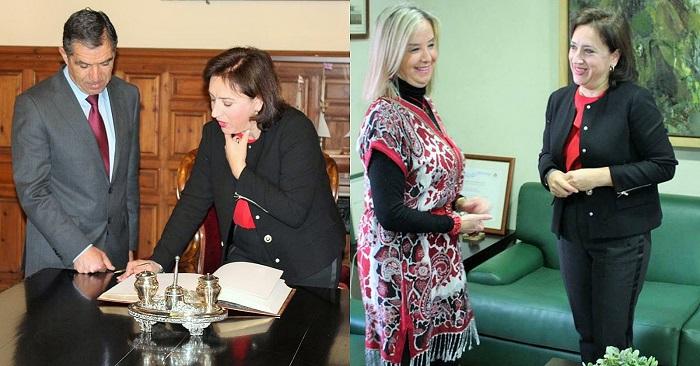 Sandra García se reúne con el presidente del TSJA, Lorenzo del Río