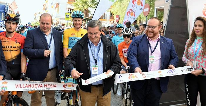 Villanueva Mesía, salida de la cuarta etapa de la Vuelta Ciclista a Andalucía