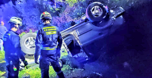 Accidente de tráfico en la cuesta del Marchante en La Herradura