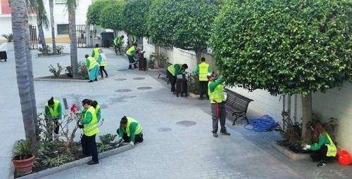 Alumnos de jardinería en el Centro Cívico de La Herradura