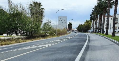 Asfaltado de un tramo de la Carretera de la Celulosa el 16 y 17 de marzo