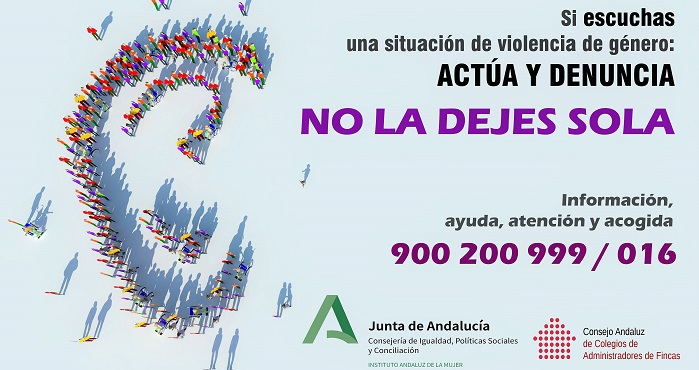Campaña contra la violencia machista 'No la dejes sola' dirigida a comunidades de vecinos