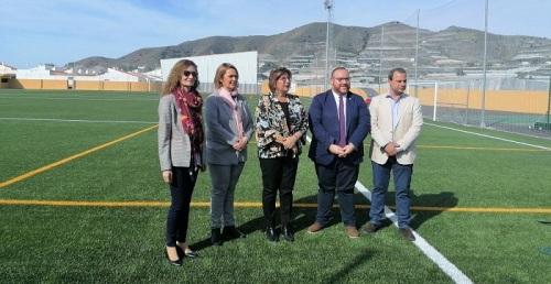 Carchuna estrena campo de fútbol tras las obras de mejora con una inversión de 488.000 euros