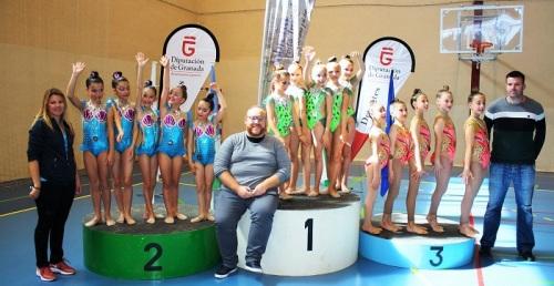 Casi un millar de gimnastas se reúnen en Salobreña en la 2ª prueba del Circuito Provincial de Rítmica
