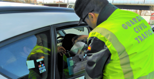 Control tráfico Guardia Civil DGT