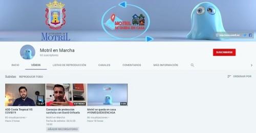 El Ayuntamiento de Motril estrena una plataforma de ocio y participación colectiva en YouTube