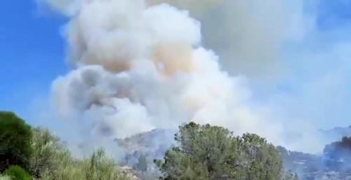 Incendio Vélez de Benaudalla