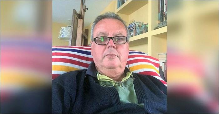 Juan Carlos Benavides en su casa