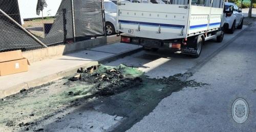 La Policía Local de Motril pone a disposición judicial a dos jóvenes por la quema de varios contenedores