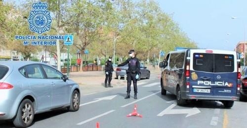 La Policía Nacional intensifica los controles para evitar desplazamientos injustificados el fin de semana