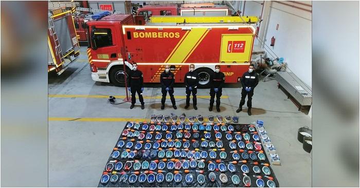 Los Bomberos de Almuñécar expresan su agradecimiento por las numerosas donaciones de máscaras integrales