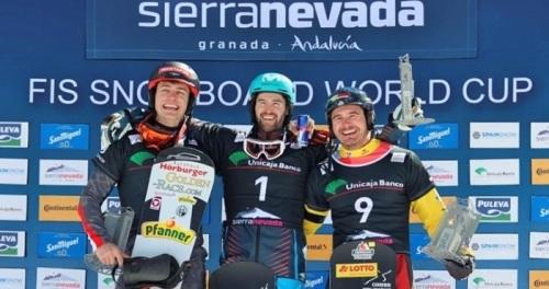 Lucas Eguibar domina de principio a fin la copa del mundo SBX de Sierra Nevada