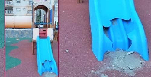 Parque infantil en La Mamola