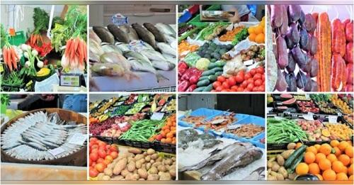 Productos frescos de mercado
