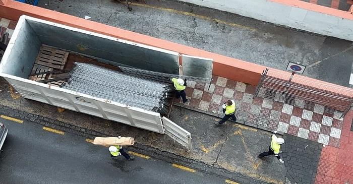 Trabajos desmantelamiento mercado municipal de Almuñécar