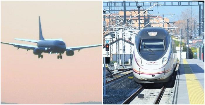 Transporte avión tren