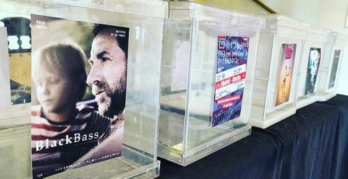 Urnas en las que se depositan los votos de los mejores cortos del AFF de Motril
