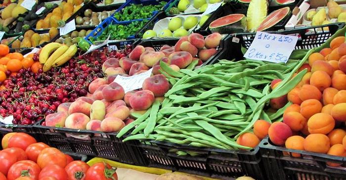 Alimentación Mercado Frutas Verduras