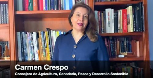 Carmen Crespo, consejeroa de Agricultura, Ganadería, Pesca y Desarrollo Sostenible
