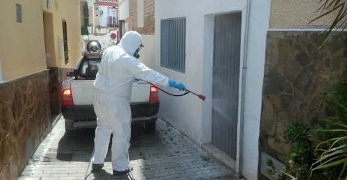 El Ayto. de Salobreña desinfecta las calles por cuarta vez y continuará con las labores en los próximos días
