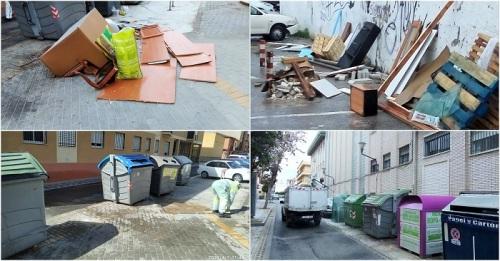 """El Ayuntamiento de Motril refuerza la desinfección y el servicio de limpieza en """"puntos sensibles"""" de todo el municipio"""