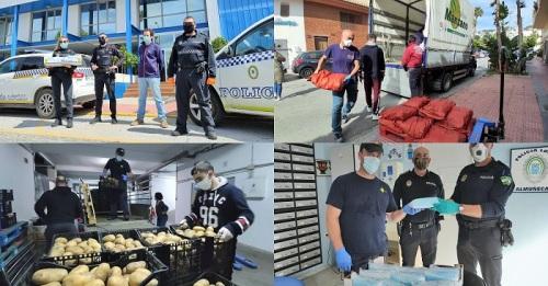 Frutas Manzano e Hijos SL dona en Salobreña y Almuñécar más de 2000 kilos de alimentos y 1400 mascarillas