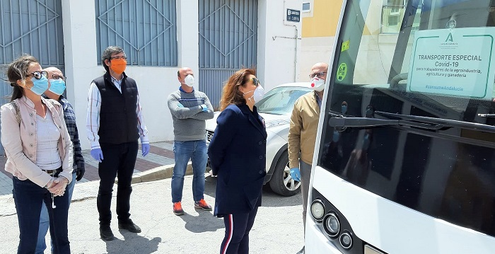 La Junta activa de forma progresiva las 24 rutas de autobuses para trabajadores del sector agrario
