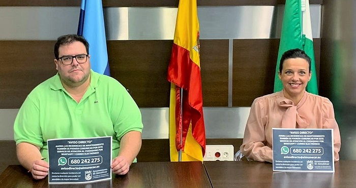 El Ayuntamiento de Almuñécar habilita una línea de servicio de Whatsapp para recibir incidencia de la vía pública
