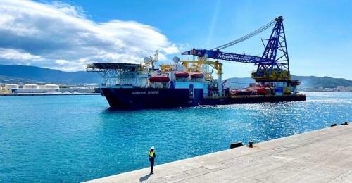 El Saipem 3000 permanecerá en el Puerto de Motril para labores de mantenimiento hasta finales de julio